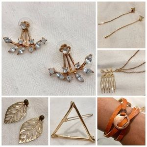 6 Set Package Deal! Gold Dainty Jewelry! SALE!